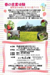 手づくり苺アイスと春野菜の収穫【3月】